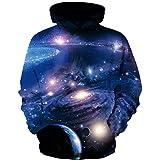 CYUURO Boys Girls 3D Galaxy Unicorn Print Sweatshirts Pullover Teen Hoodies Pocket