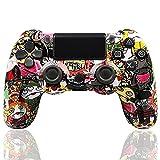 LVHI Mando Inalámbrico para PS4, Mando Inalámbrico Gamepad Doble Vibración Seis Ejes Mando Game/Puerto de Audio, Controlador inalámbrico, Mando para Playstation 4/Pro/Slim (Color : Cartoon)