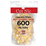 Cut-Nic 4 Hole Disposable Cigarette Filters - Bulk Economy Pack (600 Per Pack)
