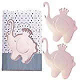32 Pcs Elephant Themed Party Favors Beer Bottle Opener for Baby Shower Souvenirs for Guests, Baby Boy 1st 2nd 3rd Birthday Keepsake Return Gift with Individual Gift Package, NO DIY Required (Gold)