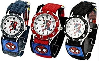Spiderman Waterproof, Shockproof Watch for Kids, Boys,Girls, Children, Fast Wrap Strap,Great for Birthday or Gift, Available in Red,Blue,Black Colour by B.K.Phoenix