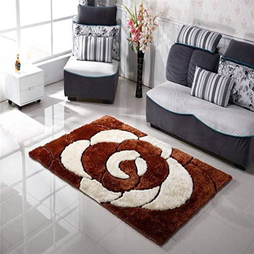 carpet Lavable Vide Durable Tapis Super Doux Filament Tapis Haute Mode Motif Tapis Salon Chambre Tapis Accueil Daily Tapis,1,4 * 2m,Pieds Marron Marron Marron