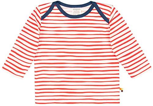 loud + proud loud + proud Unisex Baby Shirt Ringel, aus Bio Baumwolle, GOTS zertiziziert, Rot (Cayenne Cay), 80 (Herstellergröße: 74/80)
