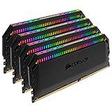 Corsair Dominator Platinum RGB 64GB (4x16GB) DDR4 3600 (PC4-28800) C18 1.35V AMD Optimized Memory - Black