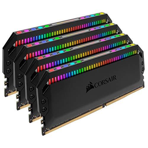 Corsair Dominator Platinum RGB kit 64GB (4x16GB) di DDR4 3600MHz C18, ottimizzate AMD Ryzen, Nero