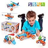 STEM Toys, Building Toys for Boys Age 8-12 , 5IN1 Kids Building Kit, 132 PCS Educational Toys , Build and Play