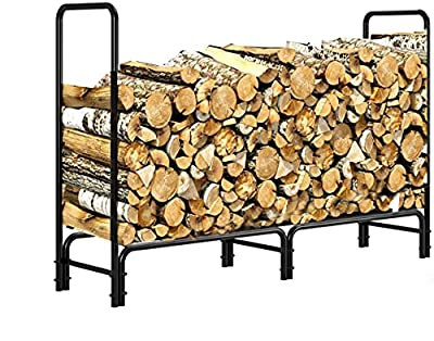 femor Log Rack, 4 Feet Outdoor Firewood Rack, Heavy Duty Rack Steel Log Storage Log Holder, Wood Stacker, Rack Holder, Wood Log