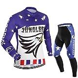 (Typ:Anzüge Größe:M) Herren Radtrikot Fahrrad Trikot lange Radhose Set Kurzarm jerseys