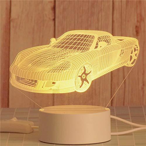 Escritorio de la habitación lámpara de noche dormitorio luz de noche electrónica mes creativo novedad luz LED para el hogar linda luz de noche con forma de varios animales (Car)