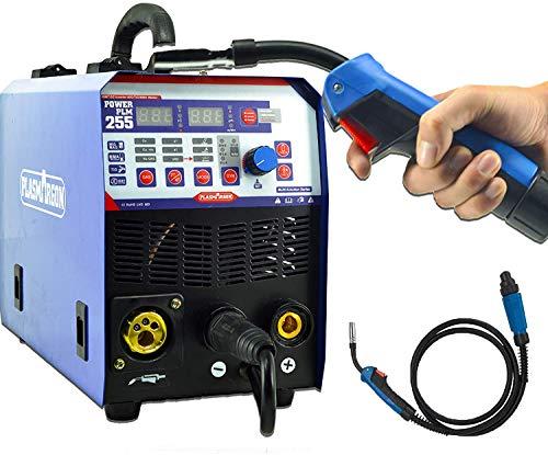 SUSEMSE Soldadora semiautomática MIG TIG Soldadora MMA Inverter Gas Airless IGBT Inverter 220V 4 en 1 Multifunción Electrica Soldadora Electrica (MIG255 Blue)