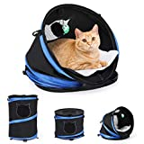 Transportines para gatos Transportines para perros, 3 en 1 Transportador plegable para cachorros con tapete y juguete Transportador suave para gatos Túnel para gatos Transportador de viaje para mascot