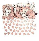amscan-9903474 Rose Gold Confeti de corazones metálicos, oro rosa, 14 g, 1 paquete, color, 14g (9903474)