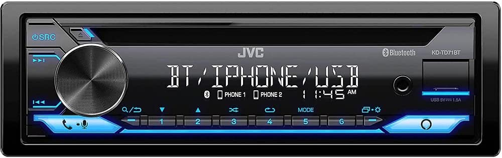 JVC KD-TD71BT Bargain - CD Receiver Genuine AUX Front USB Featuring Bluetooth