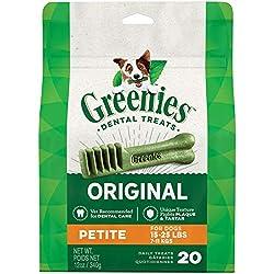 GREENIES Dental Dog Treats, Petite, Original Flavor, 20 Treats, 12 oz.