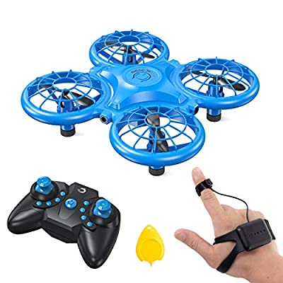 Dragon Touch Mini Drone for Kids, RC Helicopter with 2 Batteries, G-Sensor Mode, 3D Flips, Altitude Hold, Headless Mode, One Key Return&Speed Adjustment, Gift for Boys Girls-DK01