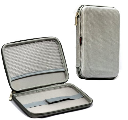 Navitech hart Schutz Case Cover für das Nabi 2, Lexibook Junior Tablet, Kurio 7, Arnova ChildPad (Silber)