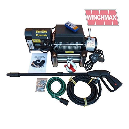 Winchmax Elektrische Seilwinde mit eingebautem Hochdruckreiniger 12 V
