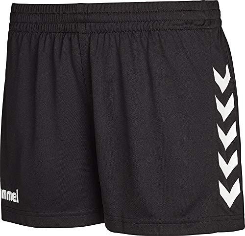 hummel Damen hummel Sporthose Kurz - Core Womens Shorts - Trainingshose Damen Hohe Bewegungsfreiheit - LaufShorts Shorts, Black Pr, M