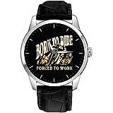 Born To Ride, Obligados a Trabajar; Iconic Motocicleta Arte Coleccionable de latón sólido de 40mm Reloj de Pulsera