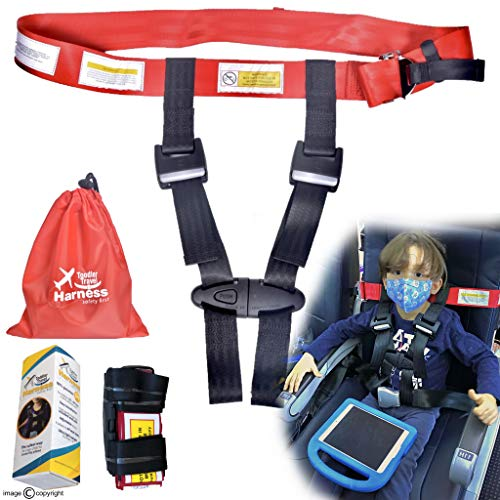 OPG Retail Child Airplane Safety Travel Harness Airplane Restraint System Baby Toddlers & Kids Airplane Travel Accessories for Aviation Travel Use