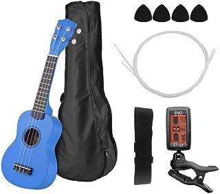 21 Kit Ukelele Ukelele Ukelele Guitarra Con Bolsa De Transporte Uke Correa Cuerdas Ukulele Selecciones Sintonizador (Color : 02 Blue-21 pulgadas)