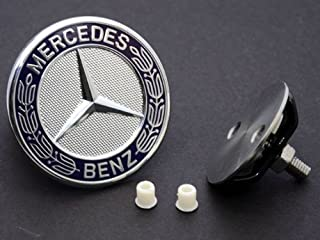 Mercedes Hood emblem (Star DELETE) flat badge KIT German made w/ laurel logo