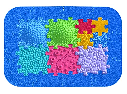 ORTHO PUZZLE – Juego de puzzle para caminos de playa – Esteras sensoriales estructuradas para niños, alfombra puzzle para integración sensorial