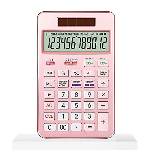 XBAO mini-rekenmachine, elektrische rekenmachine, personaliseerbaar, draagbaar, zwart, zilver, rood, goud, standaard rekenmachine