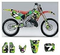 Tatumyin KM002-21カスタマイズされた3MオートバイデカールステッカーグラフィックグラフィックデカールキットホンダCR125 250 2000 2000 hnszf (Color : Thicken)