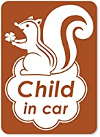 imoninn CHILD in car ステッカー 【マグネットタイプ】 No.36 リスさん (茶色)