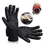 Tuffinno BBQ Grill Gloves Heat Resistant Anti Hot Kitchen Oven Pot Holder Silicone