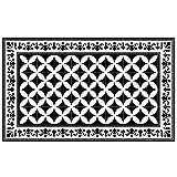 Beija Flor ランチョンマット ブラック&ホワイト W50×D33×H0.3cm 0002-zk-p-so4の写真
