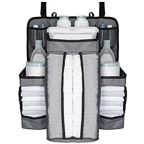 Multifunktionale Nachttischtasche zum Aufhängen, für Kinderzimmer, Aufbewahrungstasche zum Aufhängen (White)