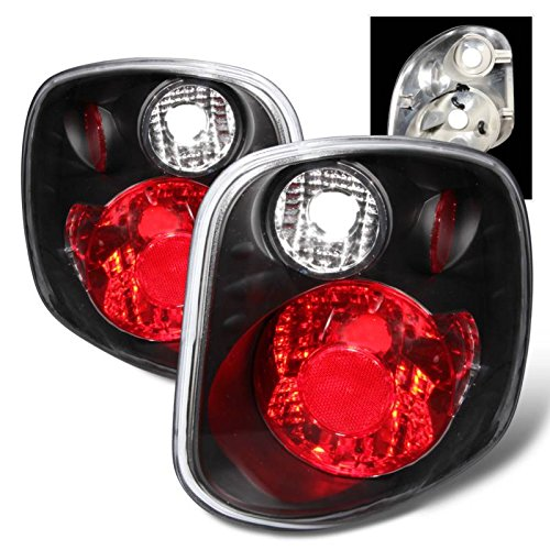 SPPC Black Euro Tail Lights Assembly for Ford F-Series Flare Side - (Pair)...