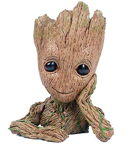 GuangTouL Baby Groot Blumentopf,Galaxy Guard Baby Action Charakter,Nettes Spielzeug Modell Pen Pot