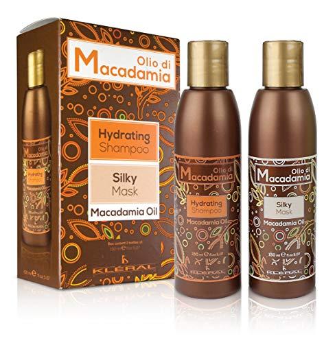 Kléral Huile de Macadamia Kit Box Duo (Shampooing 150 ml + Mask 150 ml) - 300 ml