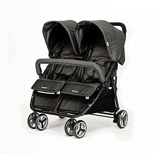 BIBA Double Stroller (Charcoal)