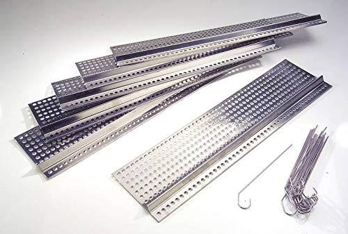 Edelstahl Dachrinnenschutz 6 Platten je 50 cm Länge/ 12,5 cm Tiefe