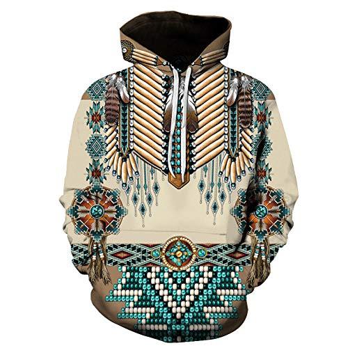Suéter 3D de la Serie de Elementos étnicos Indios, Sudadera con Capucha Impresa en 3D de Moda cos-4_L
