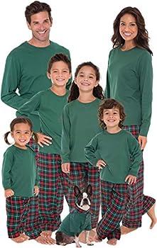 Pajamagram Matching Christmas Pjs For Family Red/Green Men s L