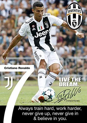 Tainsi Ronaldo Juventus - Poster Motivational Signed (Copy), A3 Poster/Wall Art/Print A3, 420 x 297 mm