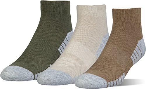 Under Armour Heatgear Tech Low Cut Socks, 3-Pairs, Coyote Brown Assortment, Shoe Size: Mens 8-12, Womens 9-12
