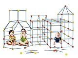 EIH 158 pcs Fort Building Kit Construction Forts Toys - DIY Build Making Kits Fort Building Kit for Boys and Girls Age 5+ Castles Tunnels Play Tent Rocket Tower Indoor & Outdoor