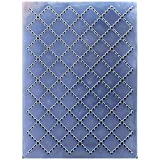 Kwan Crafts Dotted Line Grid Plastic Embossing Folders for Card Making Scrapbooking and Other Paper Crafts,10.4x14.9cm