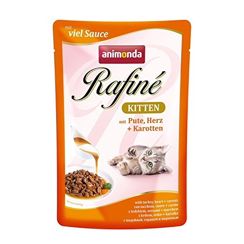 Animonda Rafine Kitten Pute & Herz | 12x 100g Katzenfutter
