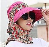 <span class='highlight'><span class='highlight'>VlugTXcJ</span></span> Fashionr Women's Foldable Hatchback Sun Hat Ladies Beach Hat Face Neck Cover UV Protection Fishing Panama Fisherman Hat Simple (Color : Rose)