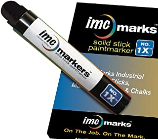 IMC Marks Weather Resistant Lead Free Industrial No. 1x Solid Stick Paint Marker, Black (Pack of 12)