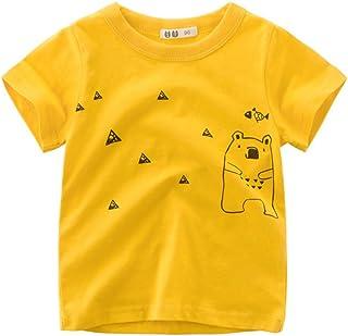 PANCY 子供服 春夏 半袖 Tシャツ キッズ 男の子 女の子 綿100% かわいい 動物柄 シンプル