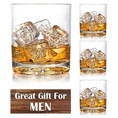 Unbreakable Whiskey Glasses - Set of 4 Premium Whisky Scotch Glasses-100% Tritan - Shatterproof, Reusable, Dishwasher Safe by D'Eco