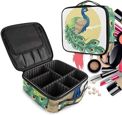 Cosmétique HZYDD Art Peacock Make Up Bag Trousse de Toilette Zipper Sacs de Maquillage Organisateur Poche for Compartiment Femmes Filles Gratuit